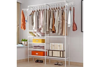 Clothes Hanger Organizer Portable Floor Display Shoes Bag Rack Garment Standing