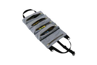 Car Seat Back Organizer Foldable Table Tray Travel Storage Bag Tool Roll Up Bag Wrench Roll Pouch Car Seat Storage Bag