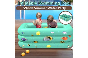 150CM Large Inflatable Portable Inflatable Swimming Pool Adults Kids Pool Bathing Tub Outdoor Indoor(150 cm)