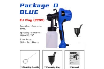 110V/220V Electric Paint Sprayer Spray Gun Painting Tool Painting Compressor DIY (blue,Package D)