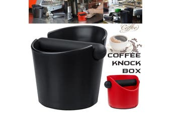 Coffee Knock Box Espresso Grinds Tamper Bin Waste Container Holder Black/Red