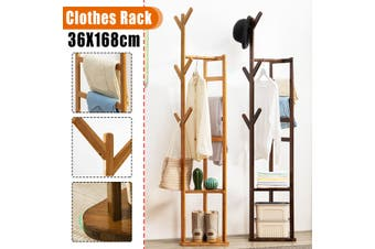 Solid Wood Bamboo Bedroom Hanger Cloth Rack Storage Simple Bedroom Cabinet Clothes Bag Storage Home Simple Modern Style