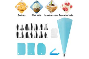 20PC DIY Cream Pastry Bag Piping Nozzle Set Cooking Kitchen Cake Decorating Tool(20Pcs Set)