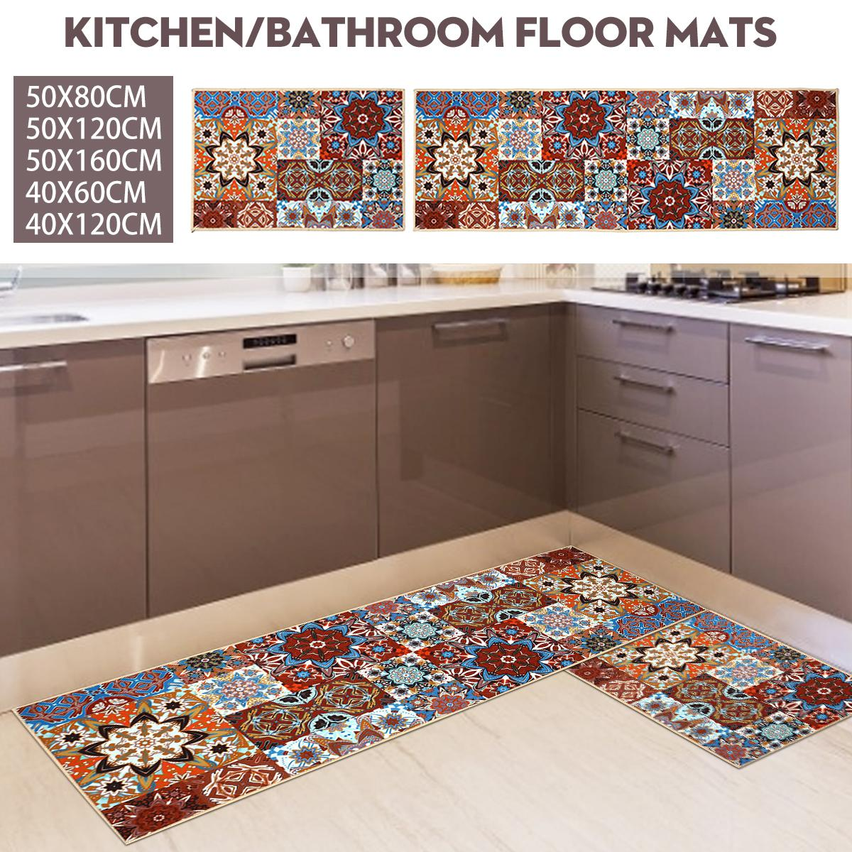 Non Slip Floor Mat Absorbent Door Mat Anti Fouling Long Mat For Kitchen Bathroom 40x120cm Matt Blatt