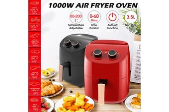 1000W 220V 3.5L Electric Air Fryer Oil-less Digital Power Oven Cooker Non-stick Low Fat Healthy Frying Food Household(black)