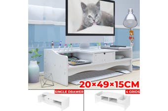 49*20*15CM Home Office WPC Desk PC Computer Monitor LCD TV Stand Riser Keyboard Shelf Rack (Single drawer)