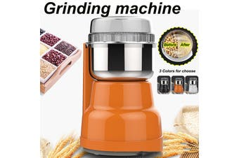 Electric Coffee Grinder Maker Grinding Milling Bean Spice Salt Pepper Grinder (orange)