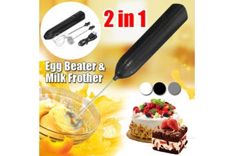 2 in 1 Whisk Milk Frother Handheld Electric USB Charging Egg Beater Milk Frother