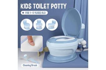 Portable Kids Toilet Potty Seat Pot Children Training Toilet Seat(blue)