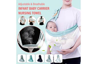 Adjustable Breathable Infant Baby Carrier Newborn Sling Wrap Backpack Pouch Bag(E)