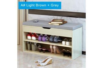 Multifunctional Modern Shoe Storage Rack Stool Cabinet Padded Seat 80x30x45cm