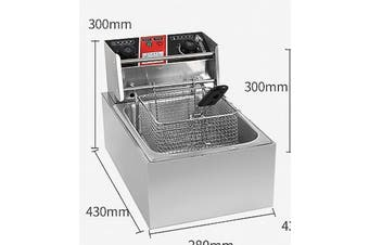 6L Commercial Electric Deep Fryer Basket Chip Cooker Stainless Steel Fried AU