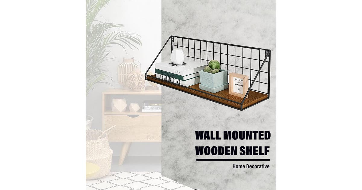 yeksuper wall shelf wooden floating shelving home decorative storage wall mounted rackstyle a 45x13x16cm poa