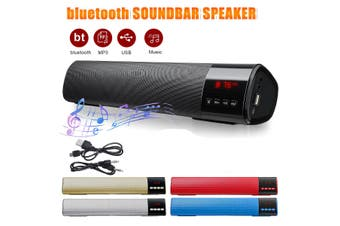 TV Bluetooth Wireless Sound Bar With Display Screen Home Theater Subwoofer Mini Soundbar Speaker(Low Quality(black))