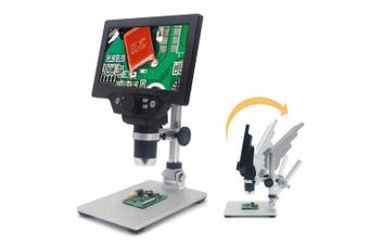 G1200 Digital Microscope 1-1200X 12MP 7 Inch Large Color Screen Large Base LCD Display