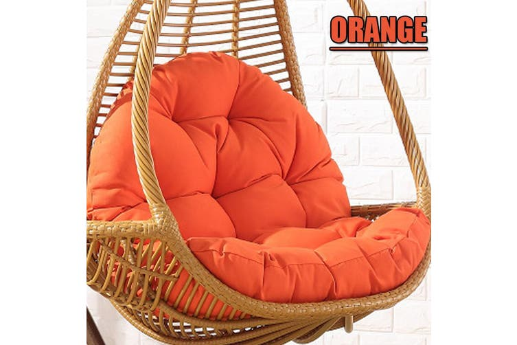 120x90x15cm Seat Cushion Waterproof Egg Chair Seat Pad Pillow 9 Colors Soft Furry Fabric Swing Chair Cushion Hanging Indoor Outdoor Patio Does Not Include A Chair Orange Kogan Com