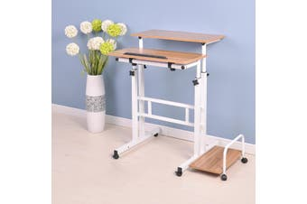 Modern Sit Stand Computer Desk With Keyboard Tray Height Adjustable Simple Standing Laptop Desk Notebook Monitor Holder Stand(TypeD)