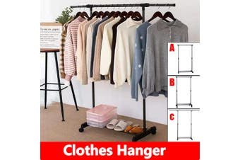 3 Types Metal Drying Rack Clothes Drier Hanger Stand Airer Heavy Duty Laundry Hanging Rack Organizer(A - Ordinary simple without roller)