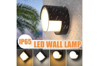 20W LED Wall Light Aluminum Waterproof IP65 10cm Sconces Lamp Wall-mounted Outdoor Balcony Garden Courtyard White(4000K) / Warm White(3000K) AC86-265V(white,Square 4000K White Light)