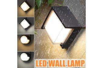 20W LED Wall Light Aluminum Waterproof IP65 16cm Sconces Lamp Wall-mounted Outdoor Balcony Garden Courtyard White(4000K) / Warm White(3000K) AC86-265V Decor(white,16CM-Square 4000K White)
