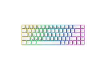 RK855 Mechanical Gaming PC Keyboard Bluetooth USB Ergonomic Keypad RGB Backlight