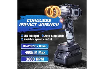 460 N.m 1/2'' 88VF Electric Brushless Motor Cordless Impact Wrench Torque LED Light Lithium-ion Batteries Electronically Controlled Impact Wrench