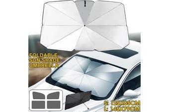 5pcs Foldable Car Windshield Sunshade Front Window Cover Sun Visor Umbrella ( Big Size)(L (145x79cm))