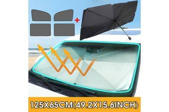 5pcs Foldable Car Windshield Sunshade Front Window Cover Sun Visor Umbrella ( Small Size)(S (125x65cm))