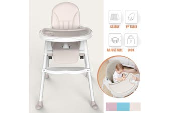 Baby Infant Dining High Chair Adjustable Toddler Feeding Table Booster 4 Wheel