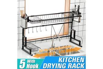 Kitchen Organizer Dish Drainer Rack Dish Rack Organizer Sink Draining Shelf Stainless Steel