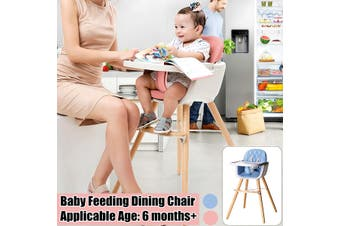Baby Kids Booster High Chair Toddler Feeding Dining Chair Table Tray+Safety Belt(pink,pink)