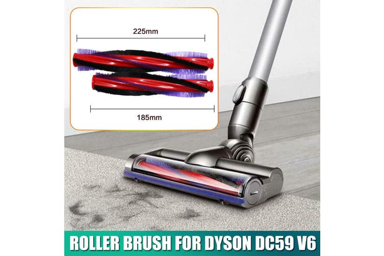225mm Roller Brush For Dyson DC59 V6 Animal Cordless Vacuum Cleaner Accessories(1PC 225mm Roller Brush)