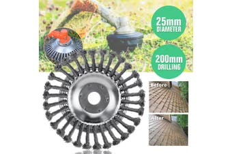 "6""/ 8"" Universal Steel Wire Wheel Brush Grass Trimmer Head Weed Cleaning Tools (8 inch)"