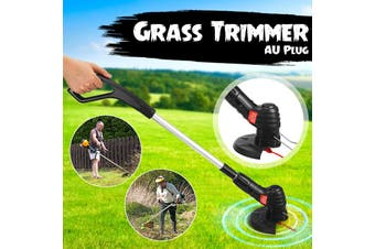 Portable Multifunctional Lawn Mower Electric Grass Trimmer Grass String Trimmer Pruning Cutter Garden Tools(AU Plug)