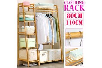 Bamboo Wood Garment Rack Clothing Rack Closet Locker Hanging Rail Storage Rack Dressing Room