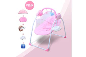 Electric Baby Cradle Swing Sleeping Rocking Basket Newborn Bassinet Foldable