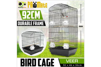 Bird Cage Parrot Aviary Pet Stand-alone Budgie Perch Castor 2 IN 1 Design 93.5cm