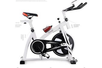 Indoor Bicycle Cycling Fitness Gym Exercise Stationary Bike Cardio Workout Home(Not Include the Bottle)(white)