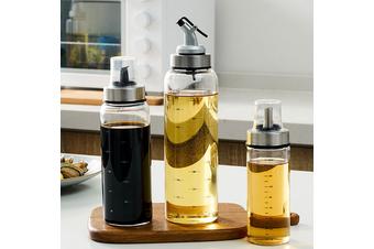 Home Oil Spray Glass Bottle Storage Spice Holder Vinegar Dispenser Kitchen Tool(500ml Curved mouth Type)