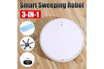 3 IN 1 Suction Smart Robot Vacuum Cleaner Cleaning Self Navigated Sweeper (white)