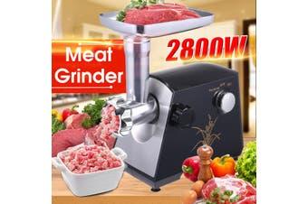 220V 2800W Electric Meat Grinder Sausage Maker Household Kitchen Food Mincer Machine (AU Plug)