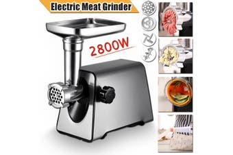 220 V 2800W Electric Meat Grinder Heavy Duty Household Commercial Sausage Maker Meats Mincer Food (AU Plug)