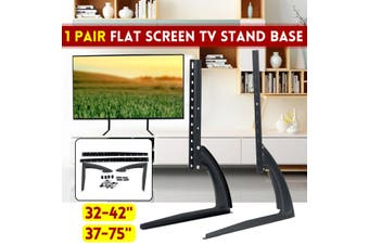 "Universal TV Stand Mount Base Plasma TableTop Pedestal Mount Adjustable For 37-75"" LCD Flat Screen TV Home Use 99.2lb Load Capacity(32-42 Inch)"