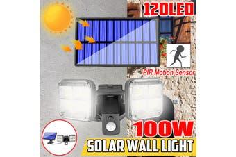 100W 120LED Solar Powered Wall Light Street Light Outdoor Motion Sensor Light Waterproof Folding Deformation Security Wall Lights Garden Light(120LED)