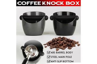 Coffee Knock Box Bin Espresso Grinds Tamper Waste Tamp Tube Gray/Black(black)