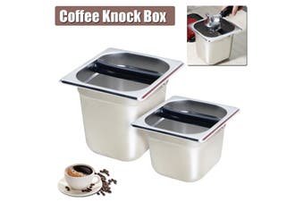 Coffee Knock Box Espresso Grind Container Stainless Steel Bin