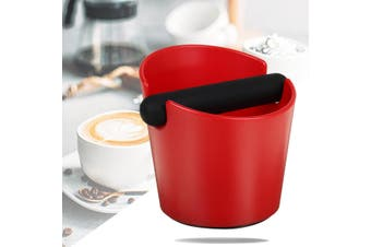 Coffee Knock Box Espresso Grounds Container Residue For Barista With Handle Coffee Residue Bucket Grind Waste Bin(red)