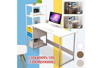 4 Tier Computer Desk Storage Rack Laptop Desk Home Bedroom Study Bookshelf