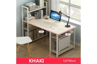 Office Computer Study Desk Table Workstation Storage + 4/5 Tiers Shelf Bookshelf