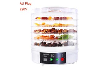 [Standard/ Upgrade Type] 350W 5 Trays Professional Electric Multi-Tier Dehydrator Machine for Meat or Beef Fruit Vegetable Dryer(Upgrade Type AU Plug 220V)